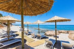 Ближайший пляж. Греция, Ретимно : Комплекс из 4-х вилл в 50 метрах от пляжа, 4 бассейна, 4 гостиные, 9 спален, 6 ванных комнат, джакузи, детская площадка, приватный пляж, парковка, Wi-Fi