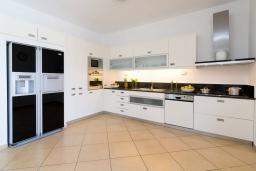Кухня. Греция, Сиси : Роскошная вилла с бассейном и зеленым двориком с барбекю, 5 спален, 4 ванные комнаты, парковка, Wi-Fi