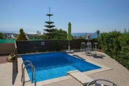Бассейн. Греция, Скалета : Уютная вилла с бассейном и зеленым двориком, 3 спальни, 2 ванные комнаты, парковка, Wi-Fi