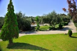 Территория. Греция, Аделе : Шикарный комплекс из двух вилл с большим бассейном и зеленой территорией, 2 гостиные с кухнями, 6 спален, 3 ванные комнаты, барбекю, парковка, Wi-Fi