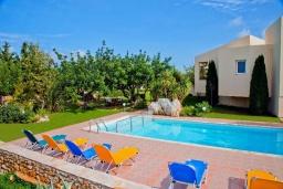 Бассейн. Греция, Ретимно : Шикарная вилла с большим бассейном и зеленым двориком с барбекю, 4 спален, 3 ванных комнат, парковка, Wi-Fi