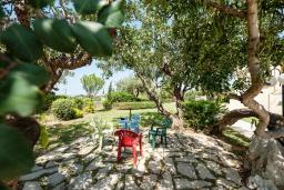 Территория. Греция, Ретимно : Шикарная вилла с большим бассейном и зеленым двориком с барбекю, 4 спален, 3 ванных комнат, парковка, Wi-Fi
