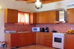 Кухня. Греция, Аделе : Шикарная вилла с бассейном и зеленым двориком с барбекю, 3 спальни, 3 ванные комнаты, парковка, Wi-Fi