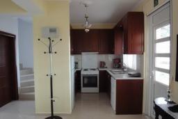 Кухня. Греция, Коккино Хорио : Прекрасная вилла с зеленым двориком недалеко от пляжа, 2 спальни, 2 ванные комнаты, парковка, Wi-Fi