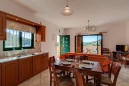Кухня. Греция, Коккино Хорио : Прекрасная вилла с бассейном и зеленым двориком с барбекю, 3 спальни, 2 ванные комнаты, настольный теннис, парковка, Wi-Fi