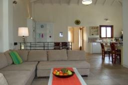 Гостиная. Греция, Коккино Хорио : Прекрасная вилла с бассейном в 50 метрах от моря, 4 спальни, 3 ванные комнаты, барбекю, парковка, Wi-Fi