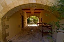 Территория. Греция, Киссамос Кастели : Каменный дом с бассейном и зеленой территорией, 5 спален, 3 ванные комнаты, барбекю, парковка, Wi-Fi