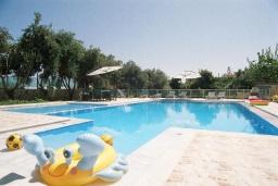 Бассейн. Греция,  Ханья : Роскошная вилла с бассейном и большой зеленой территорией, 2 гостиные, 7 спален, 4 ванные комнаты, джакузи, барбекю, парковка, Wi-Fi