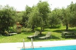 Территория. Греция, Скалета : Каменный дом с бассейном и зеленым двориком с барбекю, 2 спальни, парковка, Wi-Fi