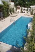 Бассейн. Греция, Превели : Каменный дом с бассейном и двориком, 4 спальни, 3 ванные комнаты, камин, барбекю, парковка, Wi-Fi