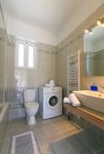 Ванная комната. Греция, Ретимно : Прекрасная вилла с бассейном и двориком с барбекю, 3 спальни, 2 ванные комнаты, парковка, Wi-Fi