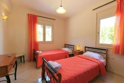 Спальня 3. Греция, Ретимно : Шикарная вилла с большим бассейном и зеленым двориком с барбекю, 3 спальни, 2 ванные комнаты, парковка, Wi-Fi
