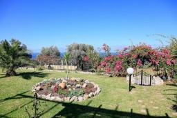 Территория. Греция, Аделе : Шикарная вилла с бассейном и видом на море, 2 спальни, 2 ванные комнаты, зеленый сад, барбекю, парковка, Wi-Fi