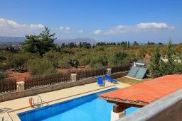 Бассейн. Греция, Коккино Хорио : Роскошная вилла с бассейном и зеленым двориком с барбекю, 3 спальни, 2 ванные комнаты, парковка, Wi-Fi