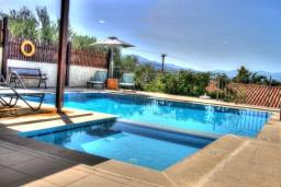 Бассейн. Греция, Скалета : Прекрасная вилла с бассейном и двориком с барбекю, 3 спальни, 2 ванные комнаты, парковка, Wi-Fi