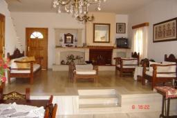 Гостиная. Греция, Плакиас : Прекрасная вилла с бассейном и зеленым двориком с барбекю, 3 спальни, 2 ванные комнаты, парковка, Wi-Fi