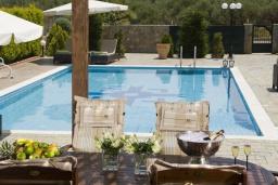 Бассейн. Греция, Сиси : Прекрасная вилла с бассейном и зеленым двориком, 3 спальни, 2 ванные комнаты, барбекю, парковка, Wi-Fi
