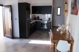 Кухня. Греция, Плакиас : Прекрасная вилла с бассейном и шикарным видом на море, 2 спальни, парковка, Wi-Fi