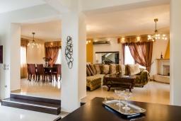 Гостиная. Греция, Скалета : Современная и элегантная вилла с 5-ю спальнями, с бассейном, зелёным двориком, тенистой террасой с патио, барбекю, расположена всего в 70 метрах от пляжа