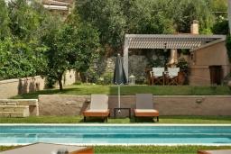 Территория. Греция, Ретимно : Прекрасная вилла с бассейном и зеленым двориком с барбекю, 3 спальни, 2 ванные комнаты, парковка, Wi-Fi