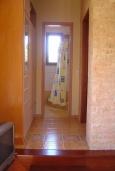 Ванная комната. Греция, Ваи : Апартамент в 50 метрах от пляжа, с гостиной, отдельной спальней и террасой с видом на море