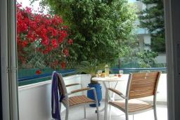 Балкон. Греция, Сития : Двухместный номер в 20 метрах от пляжа