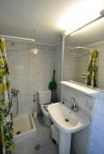 Ванная комната. Греция, Ретимно : Прекрасная студия с балконом и шикарным видом на море, 20 метров до пляжа