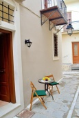 Терраса. Греция, Ретимно : Студия на первом этаже с террасой в 100 метрах от пляжа