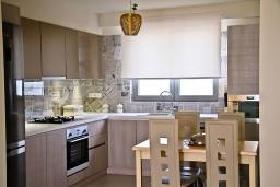 Кухня. Греция, Гувес : Роскошная вилла в 30 метрах от пляжа и с видом на море, 3 спальни, 3 ванные комнаты, зеленый дворик, парковка, Wi-Fi