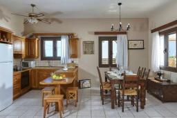 Кухня. Греция, Гувес : Прекрасная вилла в 50 метрах от пляжа с зеленым двориком, 3 спальни, 2 ванные комнаты, барбекю, парковка, Wi-Fi