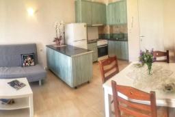 Гостиная. Греция, Айос Николас : Апартамент в 30 метрах от пляжа, с гостиной, отдельной спальней и балконом