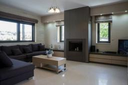 Гостиная. Греция, Коккино Хорио : Современная вилла с 4 спальнями, с бассейном, зелёным двориком, террасой с патио, беседкой с каменным барбекю и сауной