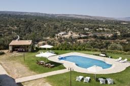 Бассейн. Греция, Скалета : Комплекс из двух вилл с 9 спальнями, с зелёной территорией и большим бассейном, патио и барбекю