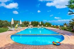 Бассейн. Греция, Скалета : Прекрасная вилла с видом на море, с 5 спальнями, с бассейном, беседкой с патио и каменным барбекю