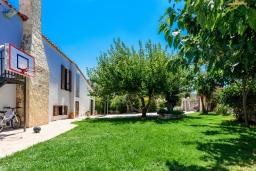 Территория. Греция, Ретимно : Прекрасная вилла с бассейном и зеленым двориком с барбекю, 4 спальни, 2 ванные комнаты, настольный теннис, тренажерный зал, парковка, Wi-Fi