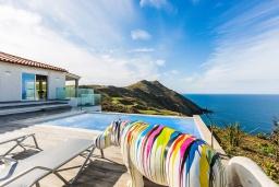 Бассейн. Греция, Панормо : Современная вилла с бассейном и шикарным видом на море, 2 гостиные, 3 спальни, 3 ванные комнаты, барбекю, парковка, Wi-Fi