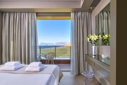 Спальня 2. Греция, Киссамос Кастели : Современная вилла с бассейном и видом на море, 2 спальни, 2 ванные комнаты, барбекю, парковка, Wi-Fi