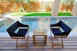 Бассейн. Греция, Малеме : Современная вилла с бассейном, джакузи и зеленым двориком, 3 спальни, 2 ванные комнаты, парковка, Wi-Fi