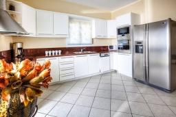 Кухня. Греция, Сиси : Роскошная вилла с бассейном и зеленым двориком с барбекю, 5 спален, 3 ванные комнаты, парковка, Wi-Fi