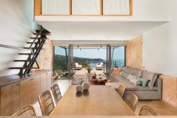 Греция, Элафониси : Современная вилла в 50 метрах от пляжа с бассейном и шикарным видом на море, 3 спальни, 3 ванные комнаты, джакузи, барбекю, парковка, Wi-Fi