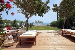 Территория. Греция, Иерапетра : Роскошная пляжная вилла с зеленым двориком с барбекю, 5 спален, 4 ванные комнаты, парковка, Wi-Fi