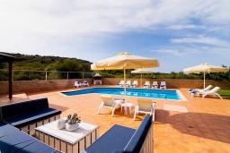 Бассейн. Греция, Милатос : Современная вилла с бассейном и двориком с барбекю, 5 спален, 3 ванные комнаты, парковка, Wi-Fi