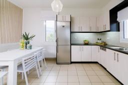 Кухня. Греция, Сиси : Прекрасная вилла с бассейном и зеленым двориком с барбекю, 2 спальни, 2 ванные комнаты, парковка, Wi-Fi