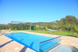 Бассейн. Греция, Сидари : Прекрасная вилла с бассейном и большим зеленым садом с барбекю, 3 спальни, 3 ванные комнаты, парковка, Wi-Fi