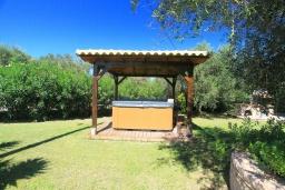 Территория. Греция, Агнос : Уютная вилла с бассейном, зеленой лужайкой, джакузи, барбекю, 2 спальни, 2 ванные комнаты, парковка, Wi-Fi