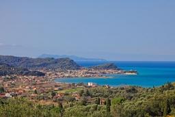 Вид на море. Греция, Сидари : Прекрасная вилла с видом на море, 3 спальни, 2 ванные комнаты, барбекю, парковка, Wi-Fi