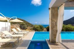 Бассейн. Греция, Бали : Роскошная вилла с бассейном и двориком с барбекю, 4 спальни, 3 ванные комнаты, парковка, Wi-Fi