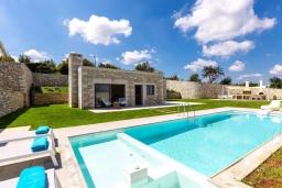 Греция, Бали : Роскошная вилла с бассейном, джакузи, двориком с газоном и барбекю, 2 спальни, парковка, Wi-Fi
