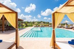 Бассейн. Греция, Панормо : Роскошная вилла с большим бассейном джакузи и зеленым двориком с барбекю, 9 спален, 9 ванных комнат, парковка, Wi-Fi