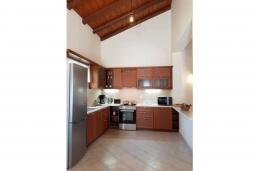 Кухня. Греция, Палеокастрица : Уютная вилла с бассейном и зеленым двориком, 3 спальни, 3 ванные комнаты, парковка, Wi-Fi